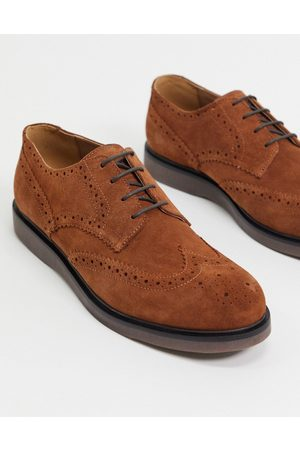 H by Hudson Zapatos Oxford en ante color tostado Calverston de