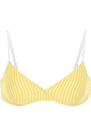 Solid Top de bikini The Brigette de rayas