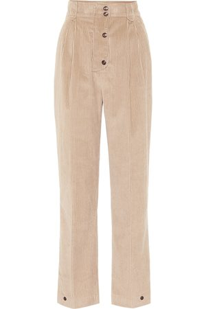 Etro Pantalones de pana de tiro alto