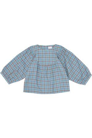 MORLEY Blusa Mikado de algodón de cuadros