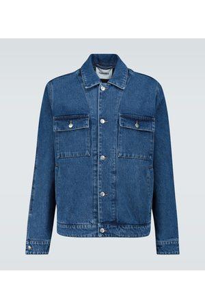 Nanushka Chaqueta de jeans ajuste recto