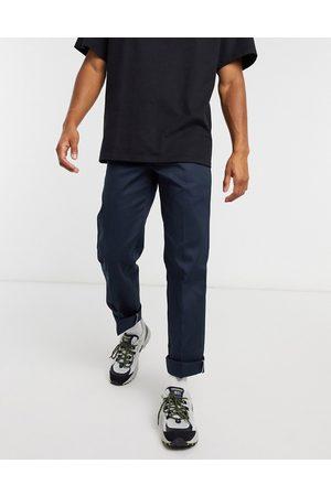 Dickies Pantalones de oficina rectos de corte slim en marino oscuro 873 de