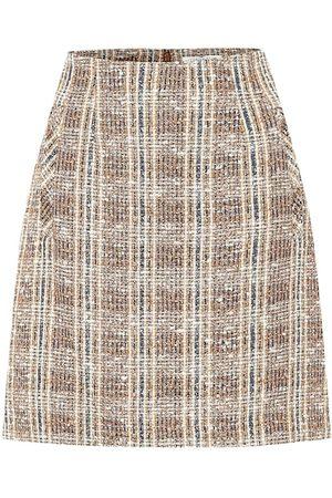 VERONICA BEARD Minifalda Roman de tweed de cuadros
