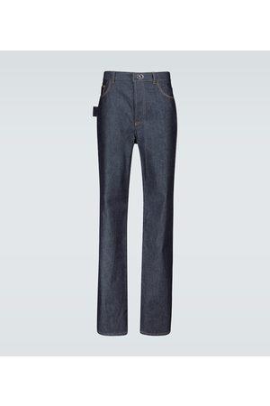 Bottega Veneta Jeans rectos con botón metálico