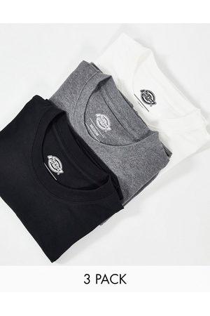 Dickies Hombre Camisetas - Pack de 3 camisetas multicolor de