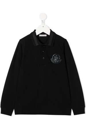 Moncler Logo-patch long sleeved polo shirt
