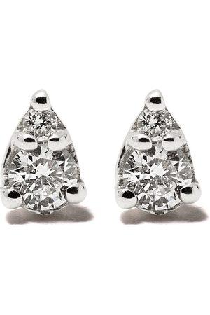 Dana Rebecca Designs Pendientes con forma de lágrima en oro blanco de 14kt con diamantes
