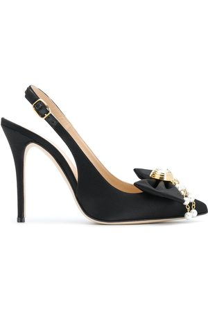 Alessandra Rich Slingback bow detail pumps