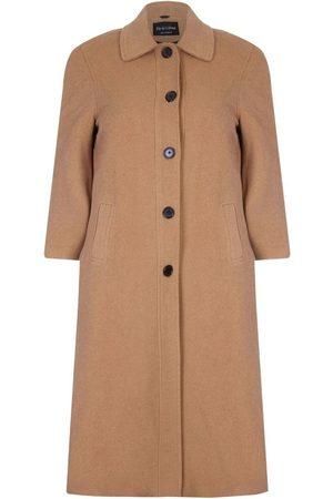 De la creme Abrigo Abrigo largo de invierno con mezcla de lana y cachemir para mujer