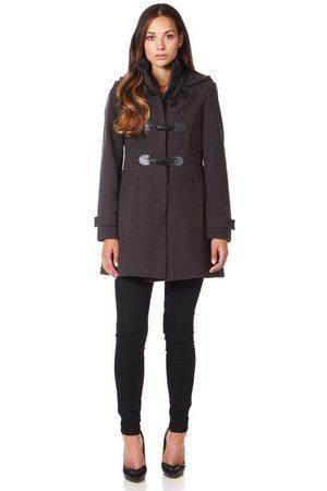 De la creme Abrigo Abrigo de invierno con cierre de cachemira de lana para mujer