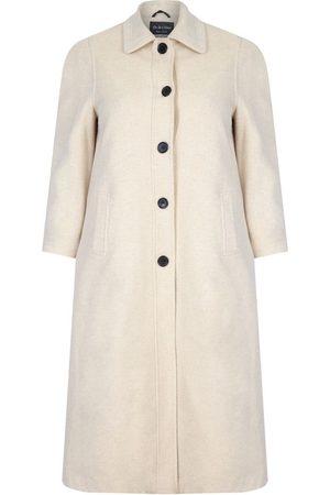 De la creme Mujer Abrigos largos - Abrigo Abrigo largo de invierno con mezcla de lana y cachemir para mujer