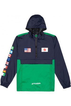 Huf Hombre Outdoor - Cortaviento Jacket flags anorak para hombre