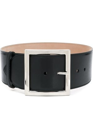 Alexander McQueen Cinturón con hebilla cuadrada