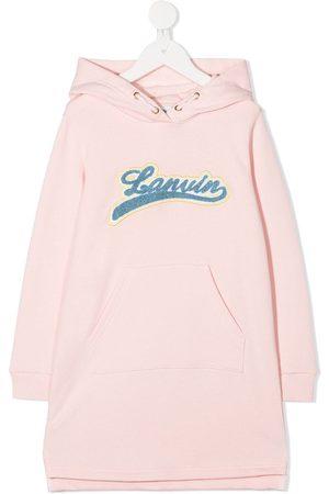Lanvin Logo patch hoodie dress