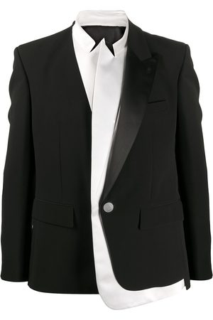 Balmain Triple satin lapel and collar crepe jacket