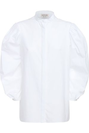 Alexander McQueen | Mujer Camisa De Popelina Con Mangas Abullonadas 36