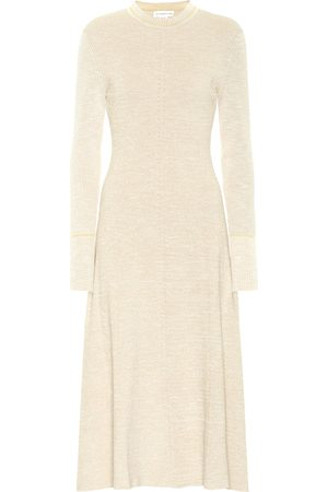 Victoria Beckham Vestido midi en mezcla de algodón