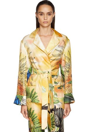 F.R.S For Restless Sleepers   Mujer Camisa Envolvente De Sarga De Seda Envolvente Xs