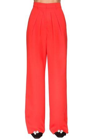 Rochas | Mujer Pantalones Anchos De Fresco De Lana 38