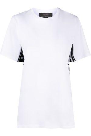 Stella McCartney Camiseta con franjas del logo