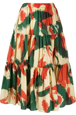 Kenzo Abstract-print flared skirt