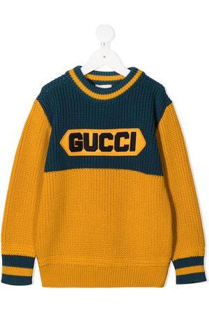 Gucci Gucci patch crew neck jumper
