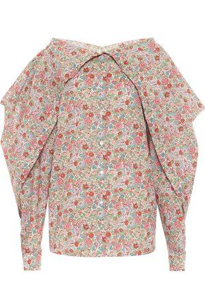 Y / PROJECT Blusa de algodón floral