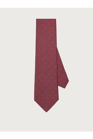 Salvatore Ferragamo Hombre Corbata de seda con estampado Gancini