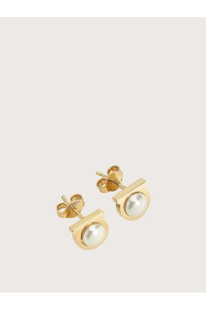 Salvatore Ferragamo Mujer Pendientes perlas Gancini Oro
