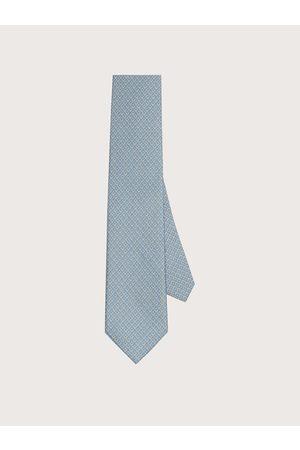 Salvatore Ferragamo Hombre Corbata de seda estampado Gancini