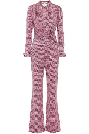 Diane von Furstenberg Mono Michele de punto fino de seda