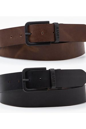 Levi's Hombre Cinturones - Reversible Core Metal Belt / Regular Black