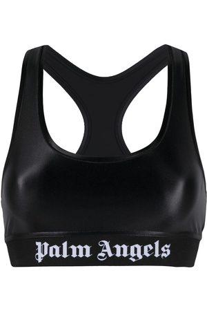 Palm Angels CLASSIC LOGO SPORTS BRA BLACK WHITE