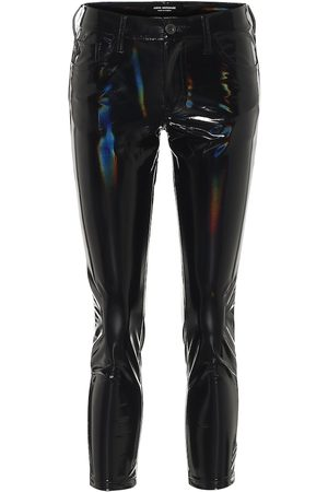 JUNYA WATANABE Pantalones skinny de PVC tiro alto