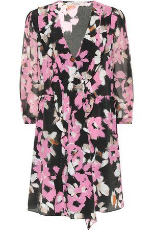 Dorothee Schumacher Vestido corto mezcla de seda floral