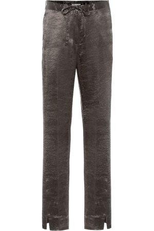 ANN DEMEULEMEESTER Pantalones de satén