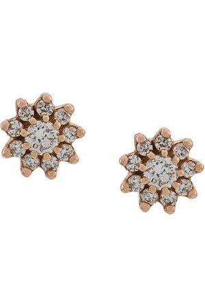 Dana Rebecca Designs Pendientes Jennifer Yamina en oro rosa de 14 kt con diamantes