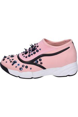 Uma parker Zapatos slip on rosado textil BT563 para mujer