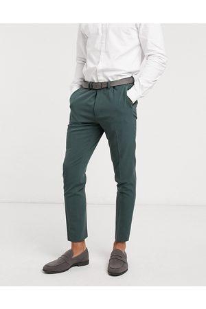 ASOS Pantalones de traje muy ajustados en bosque de