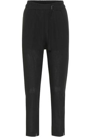 ANN DEMEULEMEESTER Pantalones ajustados de lana