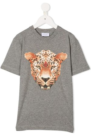 MARCELO BURLON Leopard head-print cotton T-shirt