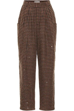 Alessandra Rich Pantalones Vichy de tweed