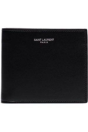 Saint Laurent Cartera con logo en relieve