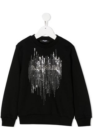 Balmain Sequined logo sweatshirt