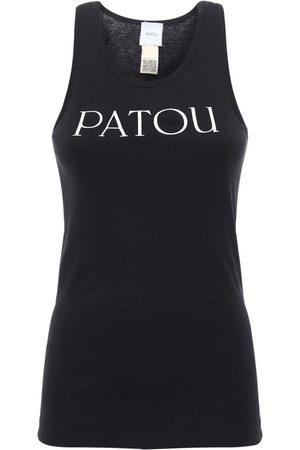 Patou | Mujer Camiseta Sin Magas De Algodón Estampada Xs