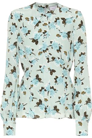 Erdem Camisa Zoey de crepé floral