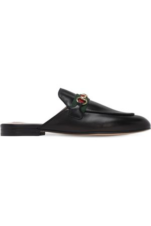"Gucci Mujer Zuecos - | Mujer Zapatos Mules ""princetown"" De Piel 10mm 35"