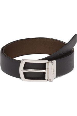 Prada Cinturón reversible de piel Saffiano