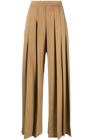 Kirin Pleated flared trousers
