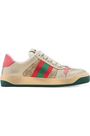 Gucci | Niña Sneakers De Lona Gg Y Tribanda /verde 33